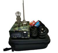 Portátil ENAIL Elétrico Dab Kits de unhas PID Caixa de Dabber Digital Temperatura com Ti Quartz Nails Bobina Aquecedor para Bongo de Vidro de Água