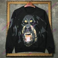 2020 Herbst Modedesigner Luxus Herrenbekleidung klassisches Tier Rottweiler Druck Pullover Pullover hoody beiläufigen Baumwollsweatshirt