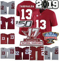 150TH NCAA Alabama Crimson Tide #13 Tua Tagovailoa #4 Jerry ...