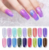 8 pcs/lot 10ml Dipping System Powder Holographic Chameleon Professional Nail Art Decorations Colorful Shiny Nail Manicure