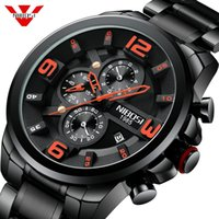 NIBOSI único del diseño de los hombres reloj de pulsera ancha de dial Casual reloj de cuarzo Hombre de negocios del reloj del deporte de los hombres creativo Relogio Masculino
