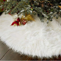 31/48 pollici albero di Natale peluche gonna decorazioni per Merry Christmas Party Faux Fur albero di Natale Gonna Tatuaggi