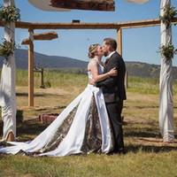 2020 Vintage Western Country Camo abiti da sposa più i vestiti da sposa A Linea Camouflage nuziale Gowns vestido de Noiva