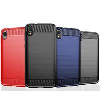Tekstura włókna węglowego Slim Armor Szczotkowane TPU Case Pokrywa dla Motorola Moto E6 E6 Plus E7 E6S 2020 G8 Power Lite G 5g Plus Edge Edge + 100 sztuk