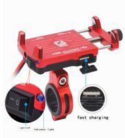 """OHANEE Support de téléphone avec moto Power Chargeur USB pour 04.05 à 06.02"""" équipement Moto Holder Moto VTT Moto Accessoires"""