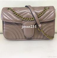 Высокое качество Marmont 26см сумки Pu кожа и бархат сумка моды цепи сумки Женщины Креста тела сумка Сумка Кошелек