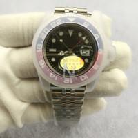 2020 Top V3 Version GMT Herren Automatische Uhr 50m Wasserdicht ETA 2813 Saphhire Keramik Lünette Edelstahl Solid Clasp Herren Armbanduhr