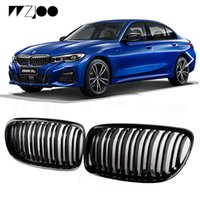 Для BMW3 / 4/5/6 / x5 / x6Series Сменная центральная решетка радиатора F30 / 34/35 316i 320i 640i 2010-19 Глянцевая черная решетка переднего бампера Решетка для стайлинга автомобилей
