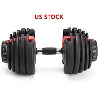 US STOCK, Weight Adjustable Dumbbell 5- 52. 5lbs Fitness Worko...