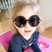Moda Yuvarlak Steampunk Çocuk Güneş Gözlüğü Marka Lüks Kız Güneş Gözlüğü Çocuk Arı Güneş Gözlükleri ulculos De Sol