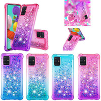 Quicksand Bling TPU Liquid Gradient Glitter Shockproof Case For Samsung S20 Plus Ultra S10 Lite A01 A21 A51 A71 A81 A91 M30S M20 A11 A41