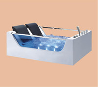 1800мм двойное стекло Корпусная ванна Стекловолокно джакузи Ванна акриловая гидромассаж Surfing Красочный светодиодные Bubble Tub NS3027
