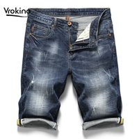 2019 Summer New Men's Casual Shorts Jeans Fashion High Quality Straight Men's Blue Short Jeans Brand Clothing 36 38 40
