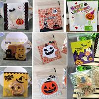 Halloween regalo wrap artistico partito design caramelle autoadesiva regali borsa borse gioielli borse da cottura lxl369-1