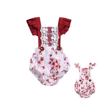 SUMMER Newborn LACE Romper Infant Baby Girls Fly Sleeve Wave...