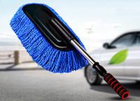 Nettoyage rétractable voiture longue poignée voiture lave-feu brosse poussière épousseter cire vadrouille époussetant ultra-fine super fibre
