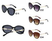 الصيف UV400 أزياء المرأة الرياح في الهواء الطلق معدن نظارات السيدات القيادة الشمس نظارات سيدة اللؤلؤ نظارات الشمس النظارات الشمسية حماية الشاطئ