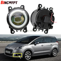 2pcs / pair (Izquierda + Derecha) Angel Eye car-styling Lámparas de niebla LED para Peugeot 3008 MPV 2009-2013 Para Peugeot 5008 2009 -2017