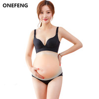 ONEFENG Skinless Belly 1200-1500g Fake Stomach Real Skin Silicone Belly for Drag Queen Crossdresser Fake Pregnant