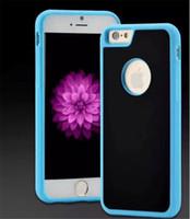 Caja del teléfono antigravedad para iPhone 8 X 7 7 plus 6 s 6 Plus para S8 S9 Magic Sticks contra gravedad Nano succión cubierta