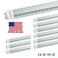 Stock in USA T8 G13 4ft V-Shaped Led Tube 1.2m Lights 60W Cool White Led Fluorescent Tube Bulbs AC85-260V CE UL FCC