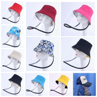 protective bucket hat Face Shield Hat Plastic Anti Dust Clea...