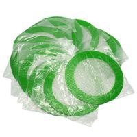 5pcs / lot rond Tapis En Silicone Cire Tampons Anti-Adhésifs Silicon Dry Herb Mat Tapis De Cuisson De Qualité Alimentaire