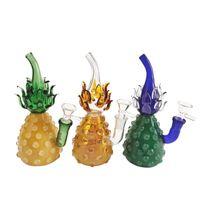 vetro ananas colori bong oil rig pipa ad acqua in vetro alta borolisicate tubo di fumo a mano ciotola di vetro bicchiere bong
