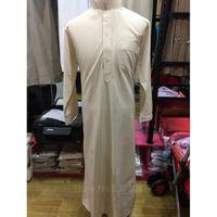 Muslim Mode Herren Islamische Kleidung Kaftan Mittlerer Osten Abaya Saudi Arabisch Pakistan Thobe Lange Robe Kleid Jubba Ramadan