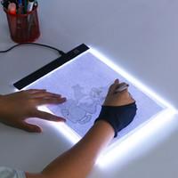 LEVOU Mesa digitalizadora Escrita Pintura Caixa de Luz Placa de Rastreamento Pads de Cópia de Desenho Digital Tablet Artcraft A4 Copiar brinquedos de mesa de Presente Da Placa de LED