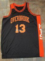 Wilt Chamberlain 13 Overbrook High School HTS Legendary Game Retro Basket Blackball Jersey Men's Cucitato Numero personalizzato Numero Nome