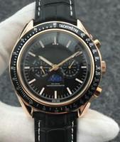 가죽 럭셔리 속도 달 2813 자동 운동 기계 남성 디자이너 스테인레스 스틸 시계 패션 자동 태엽 손목 시계