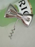 Abridores de vinho Tie Bow Cor De Metal Liga de Cromo Chapeamento Abridor Portátil Presentes de Casamento Cozinha Ferramentas 2 5bc E1