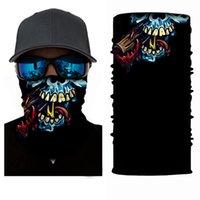 Fascia sciarpa Hip-hop Bandane foulard sciarpe in epoca Pocket tovagliolo magico del collo all'aperto Skull Ciclismo Bandana maschera facciale KKA7822