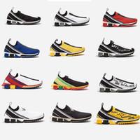 2022 Designer Schuhe Sorrento Sneakers Männer Stoff Stretch Jersey Slip-On Sneaker Dame Zweifarbige Gummi Micro Sohle Atmungsaktiv Freizeitschuh