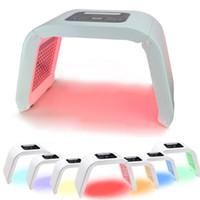 Großhandel 7 Licht LED Gesichtsmaske PDT Licht für Haut-Therapie-Schönheitsmaschine für Gesichts-Haut-Verjüngungssalon-Schönheitsausrüstung geben Verschiffen frei