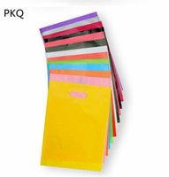 giallo dono sacchi di plastica con sacchetto di imballaggio maniglia indumento sacchetto di plastica con logo personalizzato di stampa