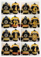 2019 Boston Bruins Homens Jersey 4 Bobby Orr 8 Cam Neely 46 David Krejci Torey Krug Charlie Mcavoy David Pastrnak TODOS Costurados Hockey Jerseys