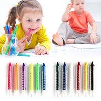 6 Renk Yüz Kalem Çubuk İçin Çocuk Parti Makyaj Araçları RRA3246 Boyama Crayon Vücut Boya Crayon Kalemleri Ekleme Yapısı yüz boyama