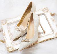 Блестящие Шпильки Кристаллы Свадебные Туфли Для Невесты Бисером Роскошные Дизайнерские Каблуки Золушка Насосы Острым Носом Стразы Свадебные Туфли