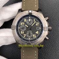 Mens Movimiento Caja versión tope BLSF Súper II 45mm Bandit M13371 ETA A7750 cronógrafo automático del reloj de titanio zafiro Relojes Cronómetro