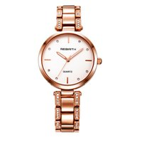 Ladies Charm Orologi da polso Alloy Crystal Simple Dial Orologio al quarzo Fashion Women Rebirth Bracelet Watch Reloj Mujer