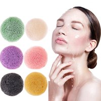 6 Farben natürlicher Konjac Konnyaku Schwamm Cleanser Wash Cosmetic Puff Sanfte Reinigungsgesichts Schwämme Makeup Tools Wash Gesicht Puff