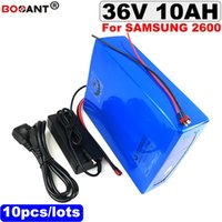 Высокое качество 36 в 10ah электрический велосипед литиевая батарея для Samsung 18650 клеток 36 в 250 Вт E-велосипед батареи +2A зарядное устройство