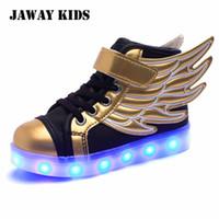 소년에 대한 Jawaykids 어린이 빛나는 운동화 USB 충전식 천사의 날개 발광 신발, 소녀 LED 라이트 신발 키즈 실행