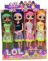 11'5 pollici 9Joint vestiti possono cambiare colore PVC Kawaii Bella Giocattoli per bambini Anime Action Figures Realistic Reborn Dolls Regalo 4 Stili 4 pz / scatola