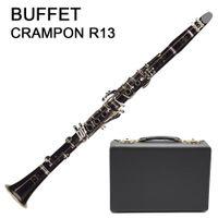 Francese Buffet Crampon R13 clarinetto 17 tasti bachelite Clarinet chiave d'argento con il caso Accessori suonare strumenti musicali libera il trasporto