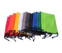 شحن مجاني المعمرة ماء نظارات شمسية بلاستيكية الغبار يغطي الحقيبة النظارات الناعمة نظارات حقيبة حالة اكسسوارات نظارات 100pcs التي / الكثير