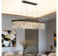 Lampada moderna Nordic cristallo D60cm Pendant K9 lampada di cristallo ovale Lustri sospensioni di cristallo Lamparas per il salone 100% garantito