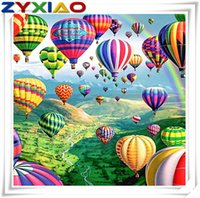 Mosaic home decor gift Hot Air Balloon 5D diy diamond painti...
